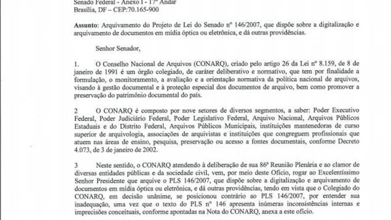 Oficio contra destrui  o de documentos