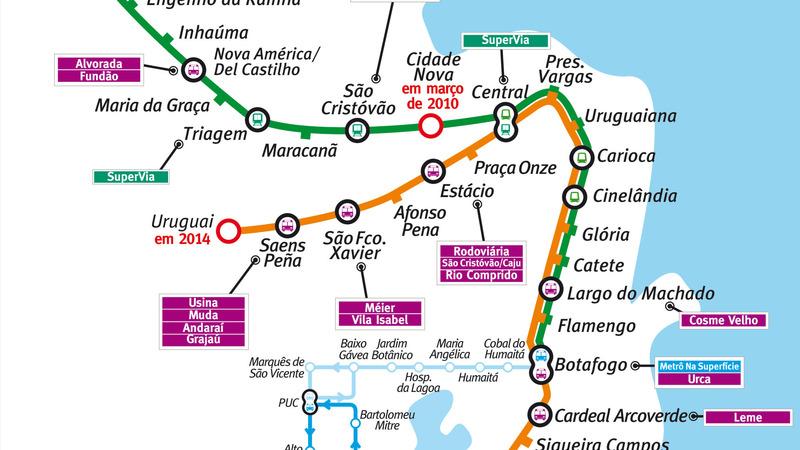 Mapa metro rio janeiro