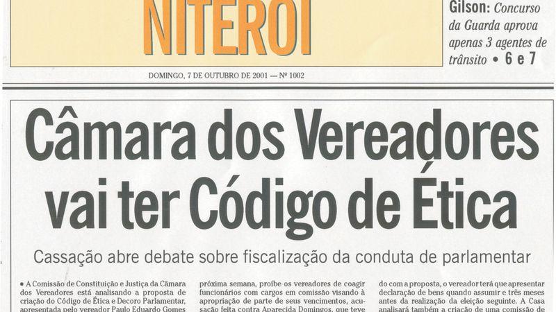 Aprovação do Código de Ética e da Comissão de Decoro Parlamentar na Câmara Municipal de Niterói