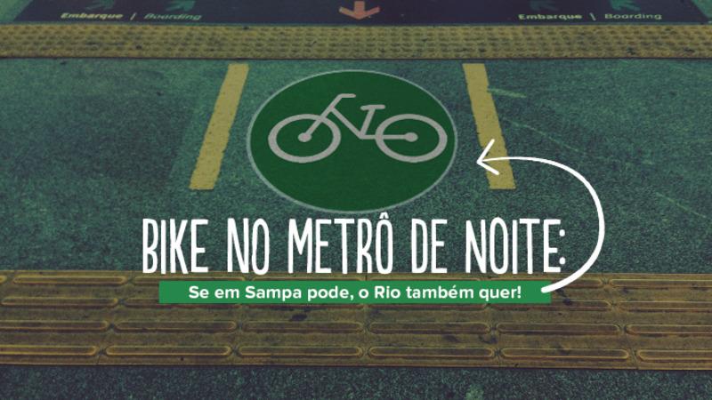 Transporte da bicicleta no Metrô Rio após às 20h30 nos dias úteis!