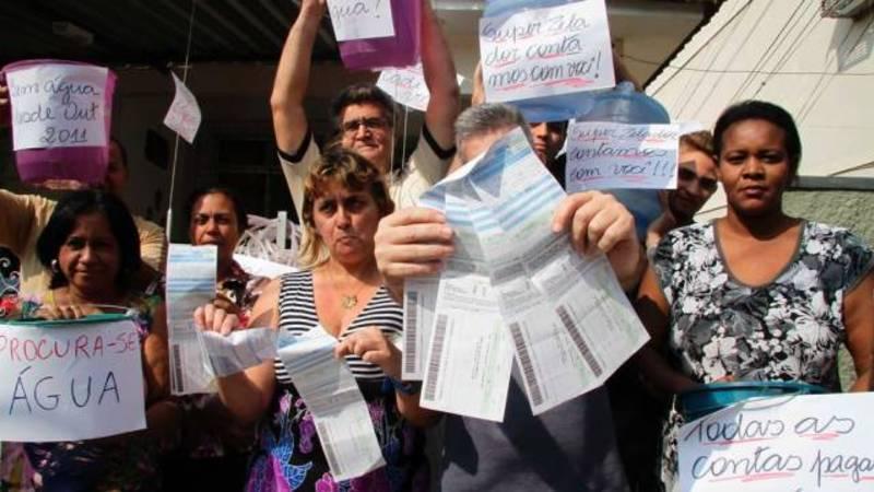 Não queremos aumento da tarifa da água!