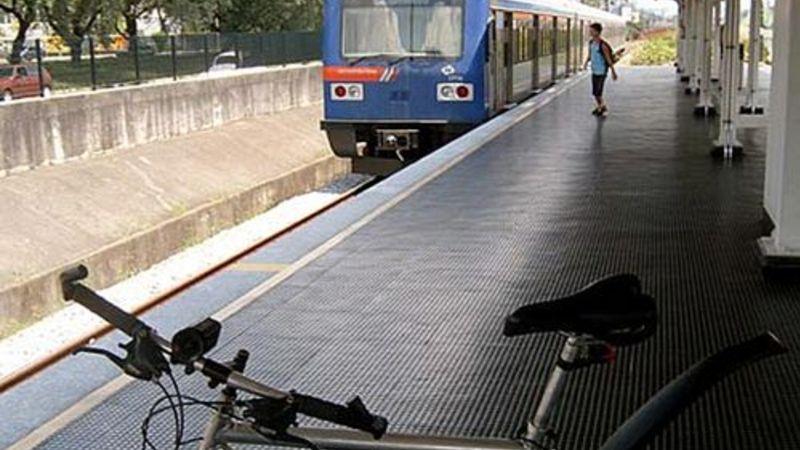 Bicicleta na plataforma de trem1