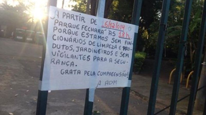 Ajude a reverter o abandono do Parque Severo Gomes
