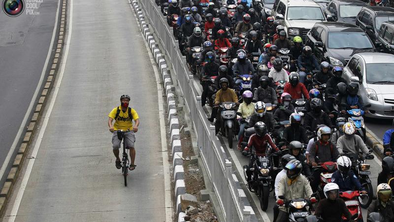 Ate onde deu pra ir de bicicleta transito