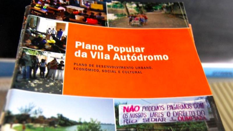 Paes, aceite o convite para conhecer o Plano Popular de Urbanização da Vila Autódromo!